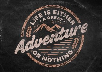 Adventure t shirt vector