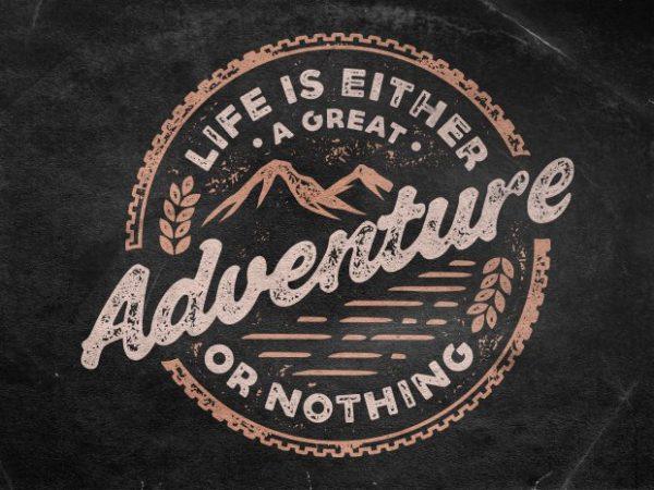 Adventure t shirt vector
