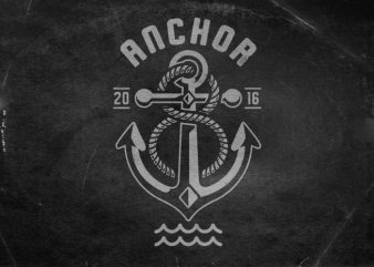 Anchor t shirt vector