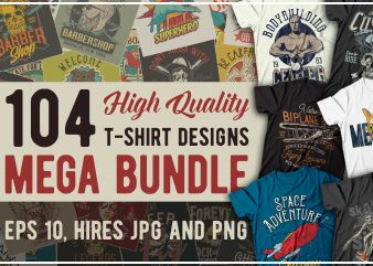 T-shirts bundle 5. vector t-shirt designs