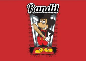Mouse Bandit t shirt designs for sale