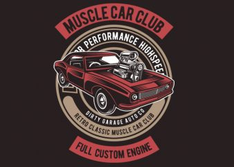 Muscle Car t shirt template