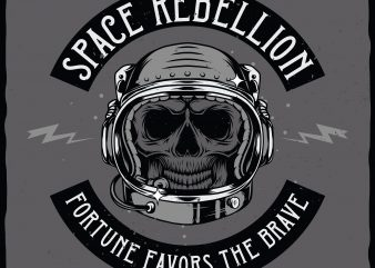 Space rebellion. Vector T-Shirt Design t shirt template
