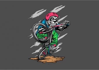 Panda BMX t shirt illustration
