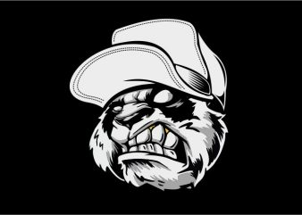Panda Beast t shirt illustration