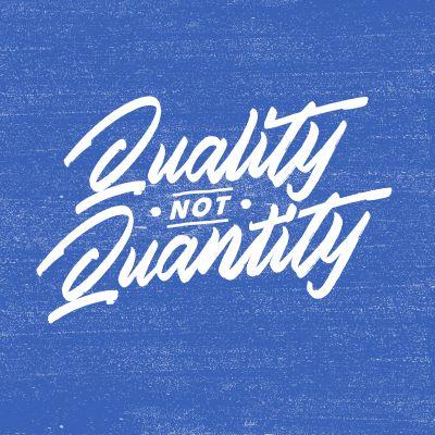 Quality not Quantity t shirt illustration