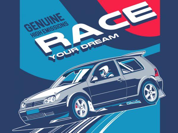 RACE t shirt design online