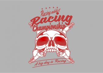 Racing Addict t shirt design online