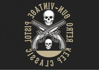 Retro Gun t shirt design online