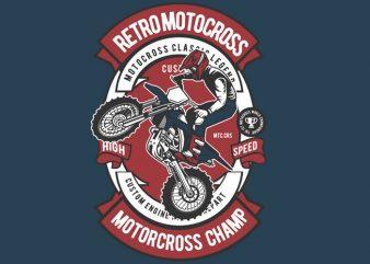 Retro Motocross t shirt design online