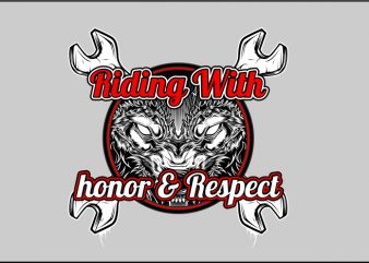Riding with Honor & Respect t shirt design online