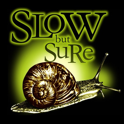 SLOW BUT SURE t shirt template vector