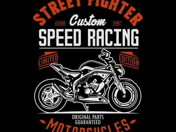 STREET FIGHTER t shirt template vector