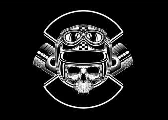 Skull Likes Ride t shirt template vector