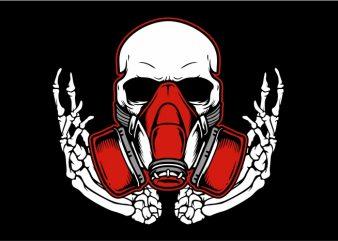 Skull Wearing Mask t shirt vector