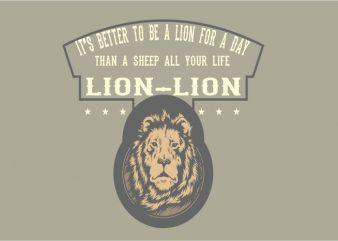 THE LION t shirt designs for sale