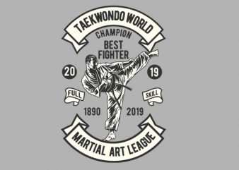 Taekwondo World Champion t shirt designs for sale