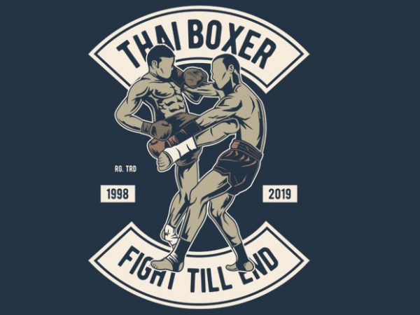 Thai Boxer t shirt designs for sale