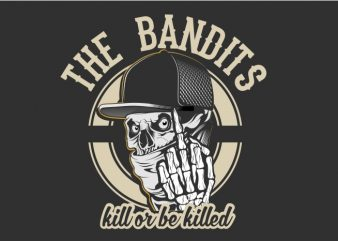 The Bandits t shirt designs for sale