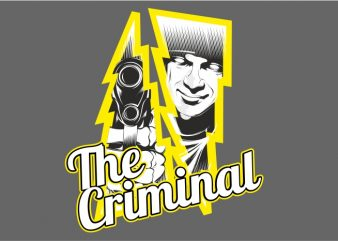 The Criminal t shirt vector