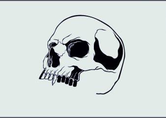 Immortal Skull t shirt design for sale