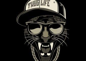 THUG LIFE t shirt template