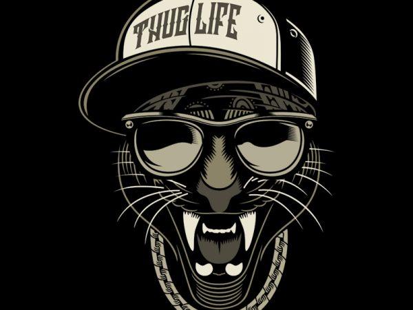 THUG LIFE t shirt designs for sale