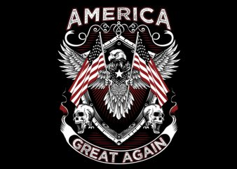 America Great t shirt template