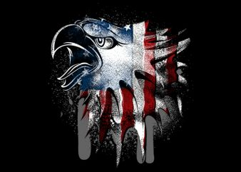 Overlay Eagle Flag t shirt template