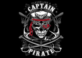 Captain Pirate t shirt vector file