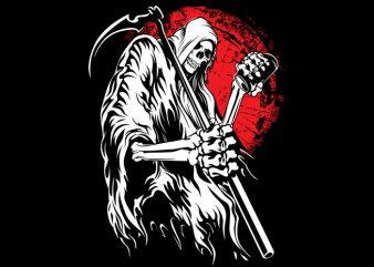 Grim reaper t shirt vector
