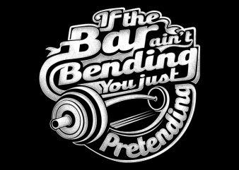 Bar Bending t shirt vector