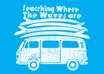 Wave are t shirt vector