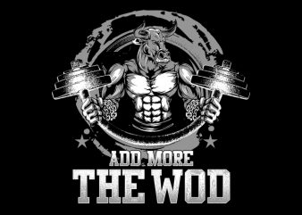 Demolish the WOD t shirt vector illustration