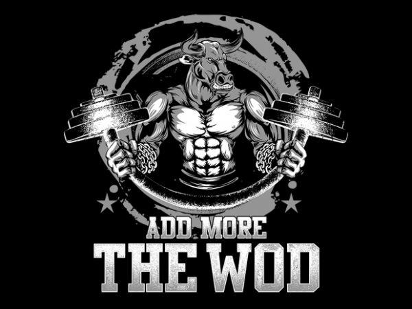 Demolish the WOD t shirt vector illustration