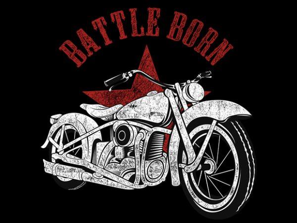 Battle Born t shirt template