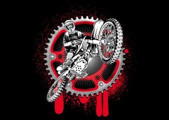 Motocrross t shirt vector