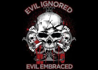 Evil Skull t shirt vector