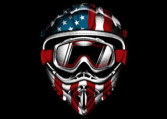 American Helmet t shirt template