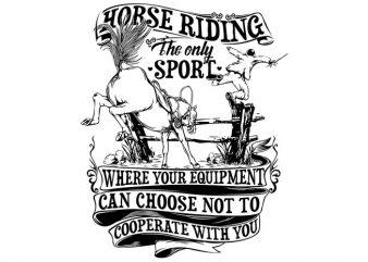 Horse Riding t shirt vector