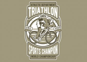 Triathlon Bike t shirt designs for sale