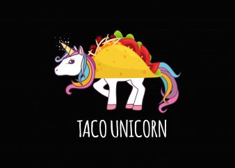 Unicorn Taco t shirt vector graphic