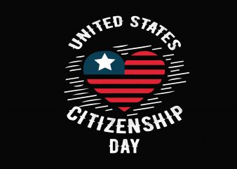 United States Citizenship t shirt vector