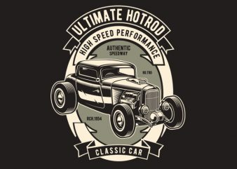 Ultimate Hotrod t shirt vector graphic