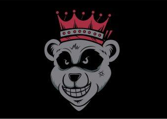 Bear King t shirt template