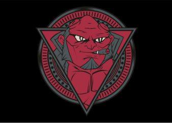 Red Devil Smoking t shirt design online