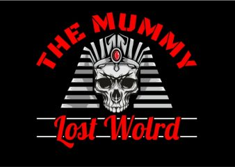 The Mummy Lost World t shirt template