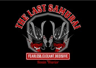 The Last Samurai Warrior t shirt vector
