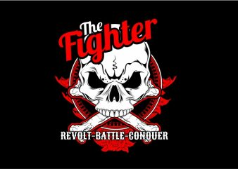 The Fighter t shirt vector