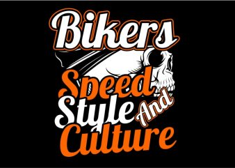Speed, Style and Culture t shirt template vector